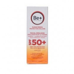 Be+ fotoprotector emulsión facial piel normal/mixta SPF 50+ 50ml