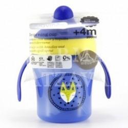 vaso con asas suavinex aprendizaje antiderrame +4M 200 ml