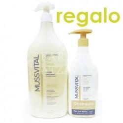 Mussvital loción emoliente piel seca 1000 ml+ gel de regalo de 100 ml